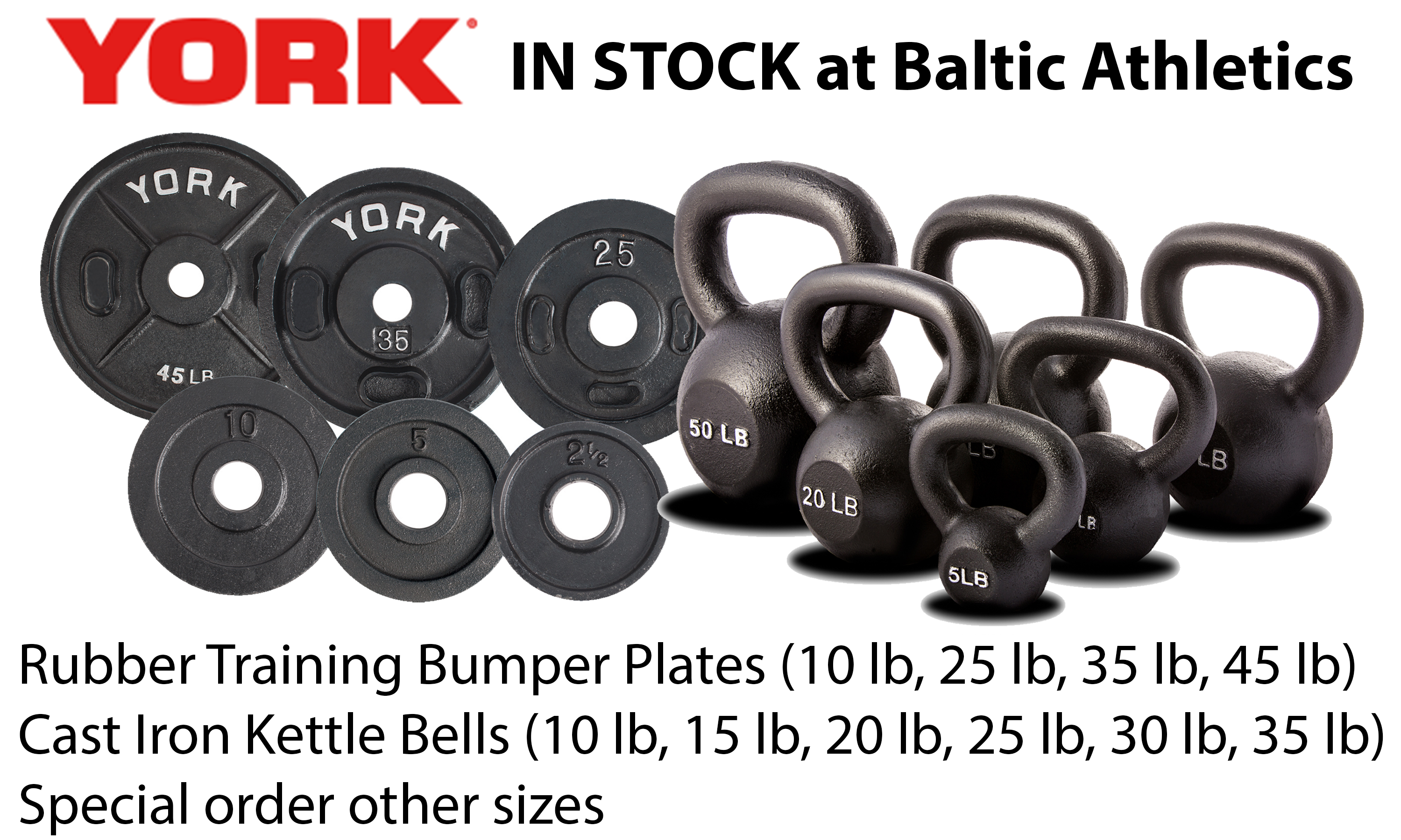 Looking for Bumper Plates and Kettlebells?